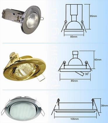 Размеры светильника