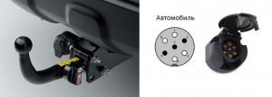 Схема подключения розетки прицепа легкового автомобиля.