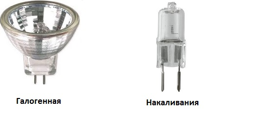 Встроенный точечный светильник.