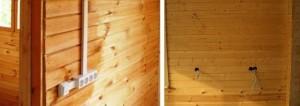 Электромонтаж наружной проводки в деревянном доме