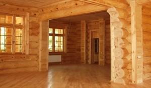 Скрытая проводка в деревяном доме, фото