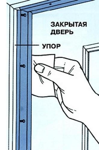 proverka shheli v dveri