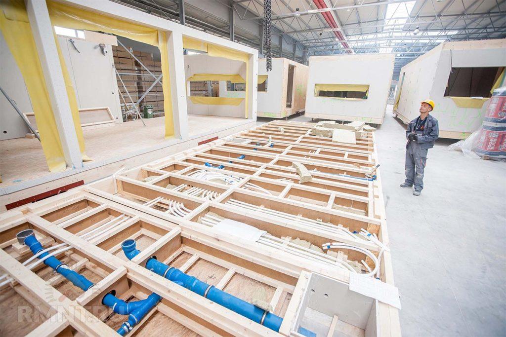 Финский завод по производству каркасных домов