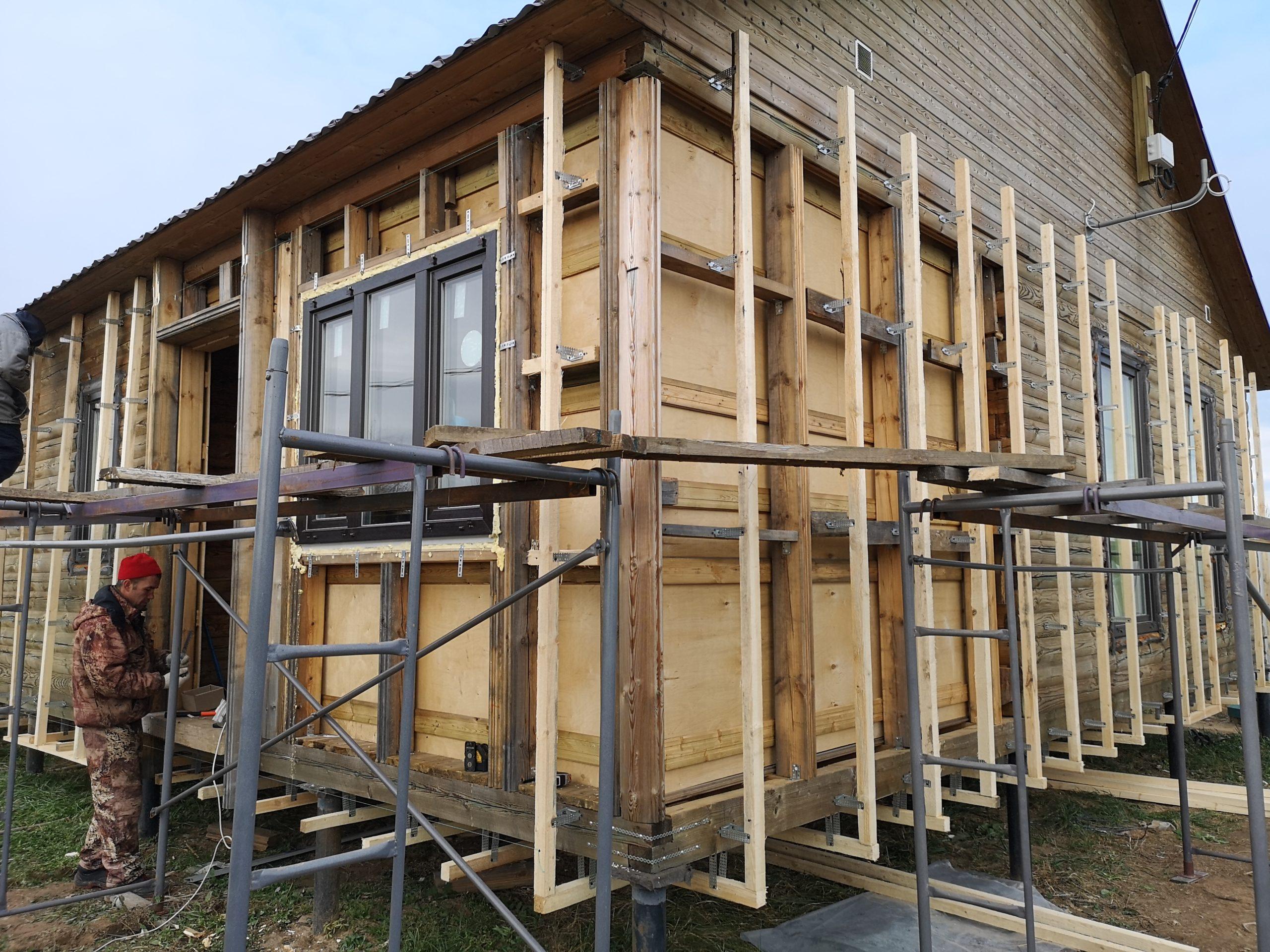 Утепление деревяного дома снаружи ватой